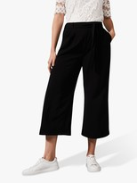 Phase Eight Magma Tie Waist Culottes, Black