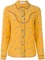 Coach penguin print blouse