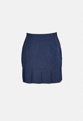 Missguided Blue Co Ord Pleat Detail Mini Skirt
