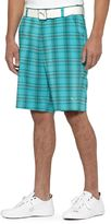 Puma Tech Blur Plaid Golf Bermuda Shorts