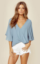 Blue Life waterfall blouse