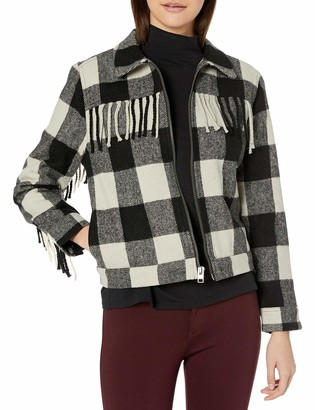 Lucky Brand Women's Wool Fringe Jacket