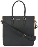 Burberry checked detail tote
