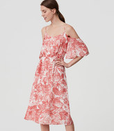 LOFT Botanic Cold Shoulder Dress