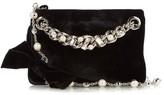 Miu Miu Crystal-embellished velvet pouch