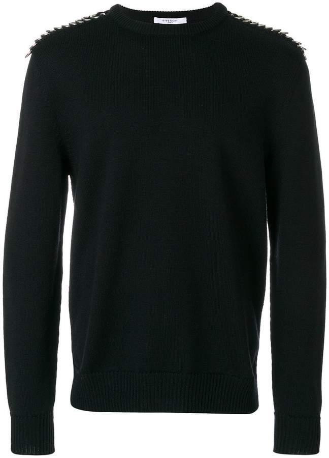 Givenchy embellished shoulder sweater