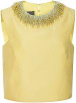 Monique Lhuillier Structured Silk Top