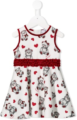 MonnaLisa Teddybear Print Dress