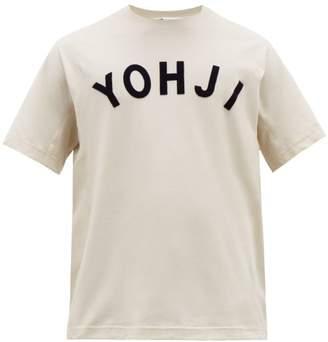 Y-3 Y 3 Yohji Applique Cotton T Shirt - Mens - White
