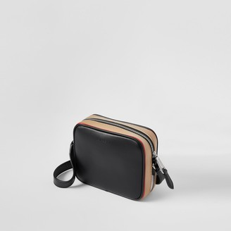 Burberry Icon Stripe Print Leather Crossbody Bag