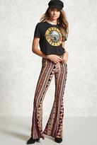 Forever 21 FOREVER 21+ Printed Flared Pants