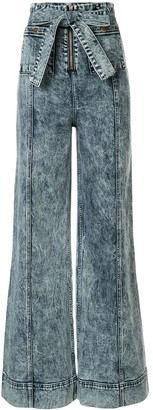 Alice McCall We Dissolve acid wash wide-leg jeans