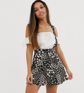 Asos DESIGN Petite exclusive pinafore mini skirt in mixed floral print
