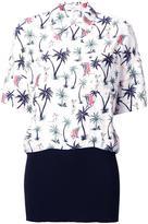 Bassike 'Hawaiian' contrast polo shirt