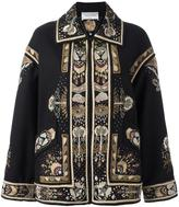 Valentino embroidered oversized coat