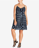 City Chic Trendy Plus Size Bandana-Print Dress