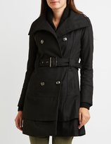Charlotte Russe Wool Blend Double-Breasted Trench Coat