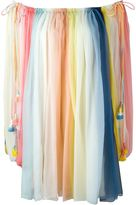 Chloé 'Rainbow' striped off-the-shoulder dress