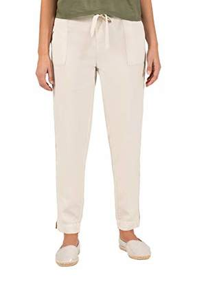 Timezone Women's Regular Rieketz 7/8 Trouser, (Linen Beige 2021), (Size: X-Large)