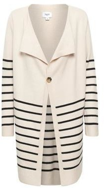 Saint Tropez Stripe Long Line Cardigan - XS