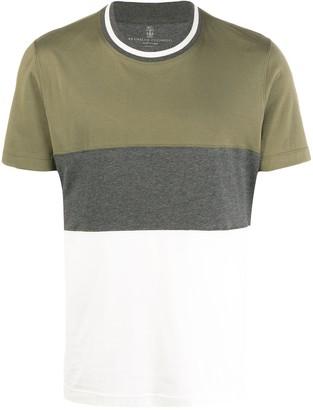 Brunello Cucinelli block stripe T-shirt