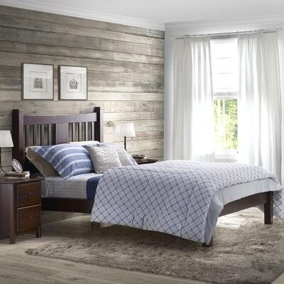 Grain Wood Furniture Montauk Solid, Grain Wood Furniture Montauk Queen Solid Panel Bed Rustic Walnut