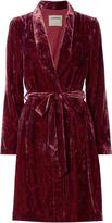 L'Agence Cressida Paisley Print Velvet Robe