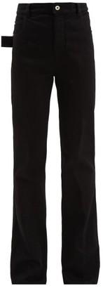 Bottega Veneta High-rise Flared-leg Jeans - Black