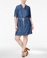 MICHAEL Michael Kors Size Denim Utility Dress