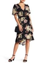 Bobeau Floral Wrap Dress (Petite)