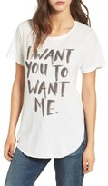 Junk Food Clothing Women's I Want You Graphic Tee