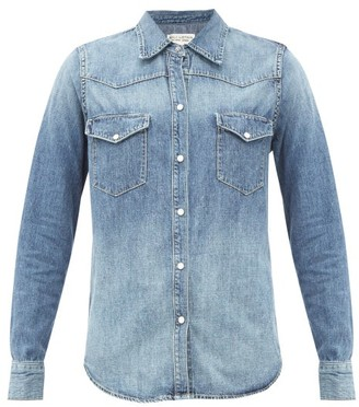 Nili Lotan Travis Patch-pocket Denim Shirt - Mid Blue