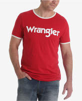 Wrangler Men's 70th Anniversary Collection Kabel Logo Ringer T-Shirt