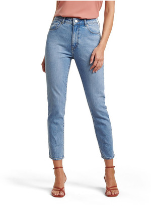 Forever New Isabel Mid Rise Straight Jeans Lt