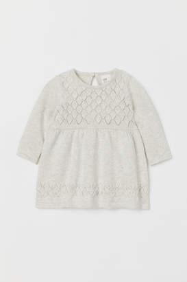 H&M Knit Cotton Dress - Gray