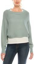 Urban Diction Women's Pullover Sweaters Blue - Blue Cropped Dolman-Sleeve Sweater - Women