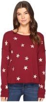 Splendid Ashbury Star Scoop Neck Pullover