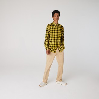 Lacoste Men's LIVE Boxy Fit Checked Cotton Flannel Shirt