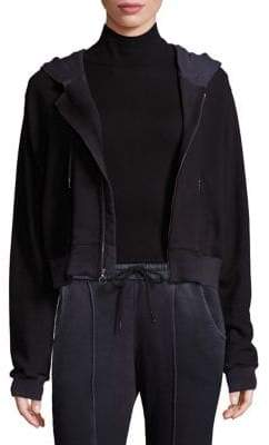 Cotton Citizen Zip-Front Cropped Hoodie