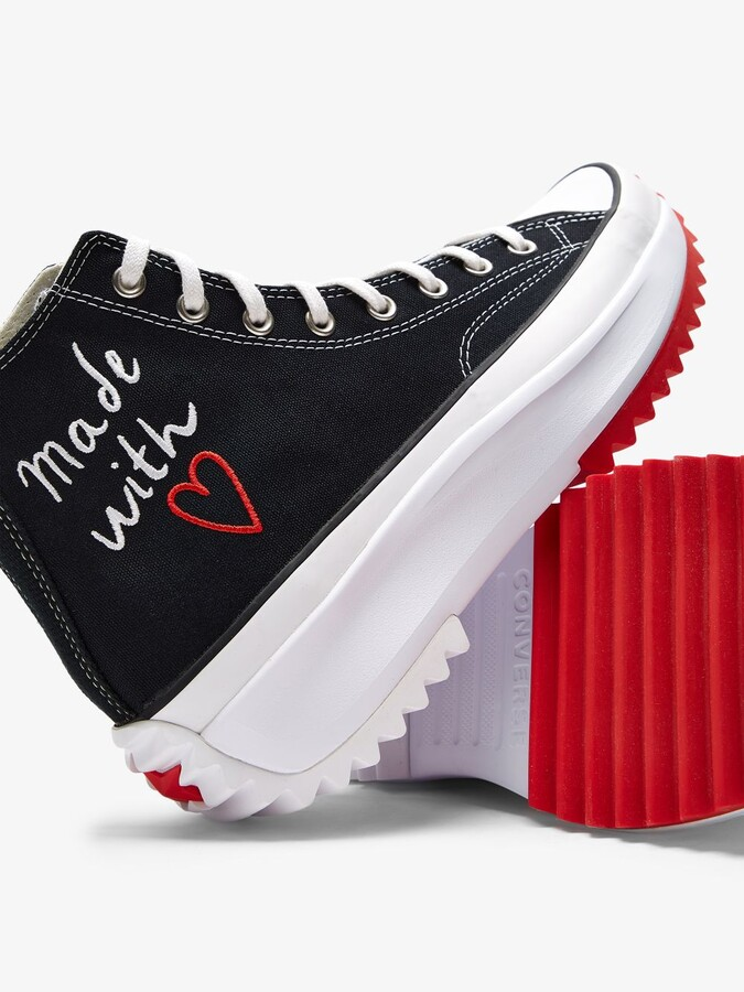 Thumbnail for your product : Converse Black Run Star High Top Sneakers