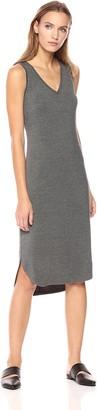 Daily Ritual Amazon Brand Women's Jersey Sleeveless V-Neck Dress Charoal Heather Grey XX-Large