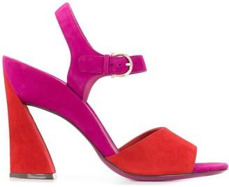 Salvatore Ferragamo Sculpted Heel Sandals