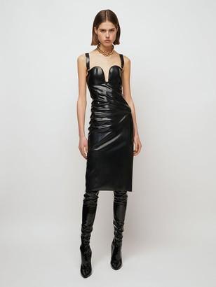 Saint Laurent Sweetheart Stretch Latex Effect Dress