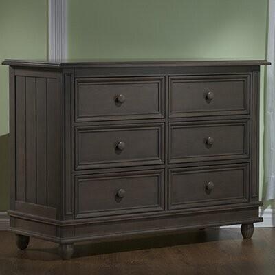Harriet Bee Margene 6 Drawer Double Dresser Color Slate Shopstyle
