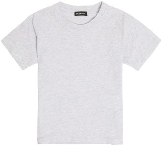 Balenciaga Kids Unisex Cotton-jersey T-shirt - Light Grey