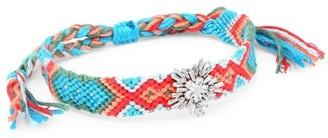 Fallon Embellished Woven Skinny Charm Friendship Bracelet