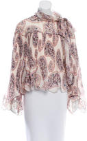 See by Chloe Plisse Printed Top