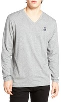 Psycho Bunny Men's Long Sleeve V-Neck T-Shirt