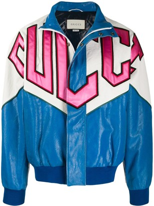 Gucci Graphic Patchwork Bomber Jacket