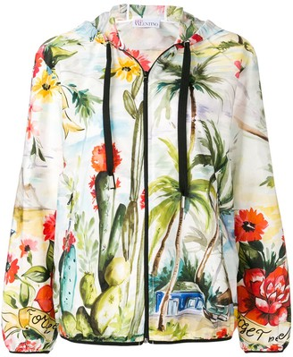 RED Valentino Tropical Print Jacket